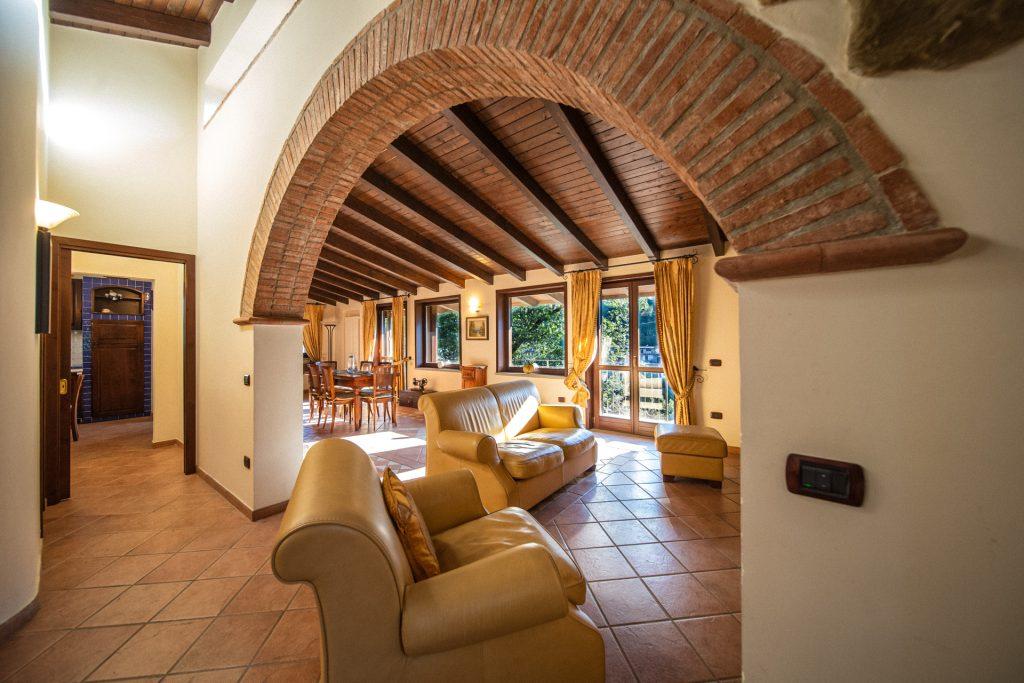 Soggiorno secondo piano Villa Lara Sicilia