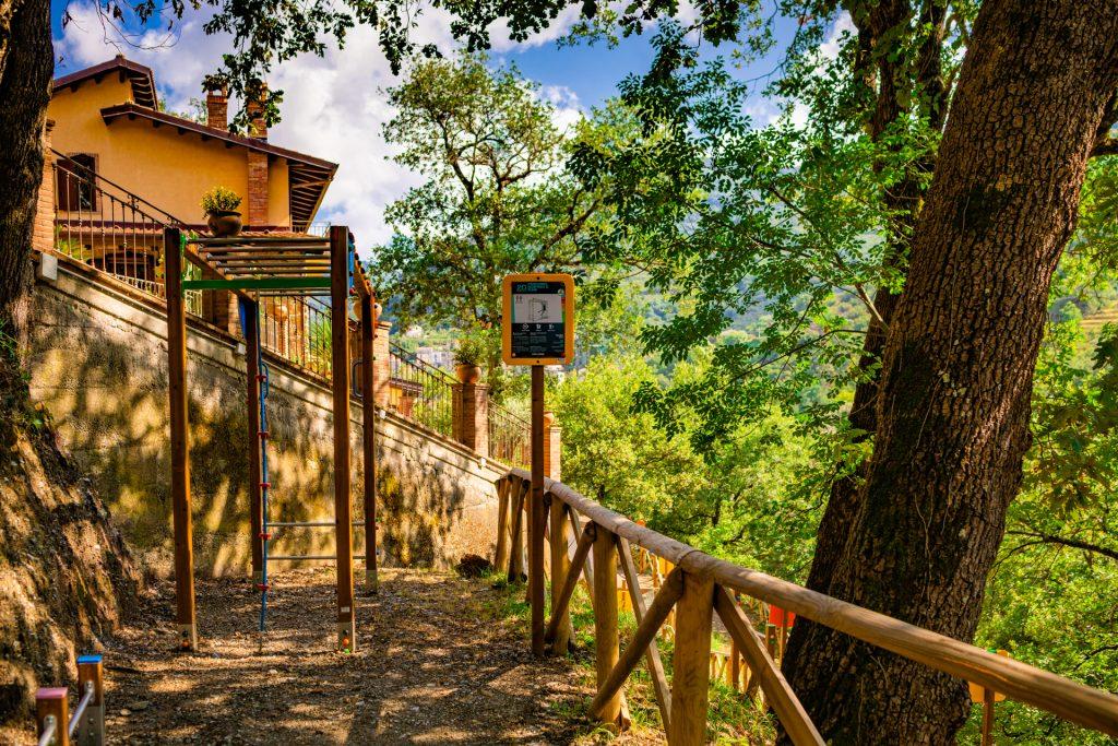 Area giochi e percorso fitness Villa Lara Sicilia