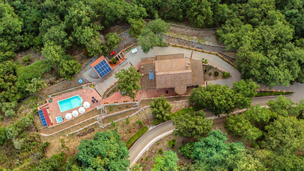 Vista dall'alto Villa Lara Sicilia